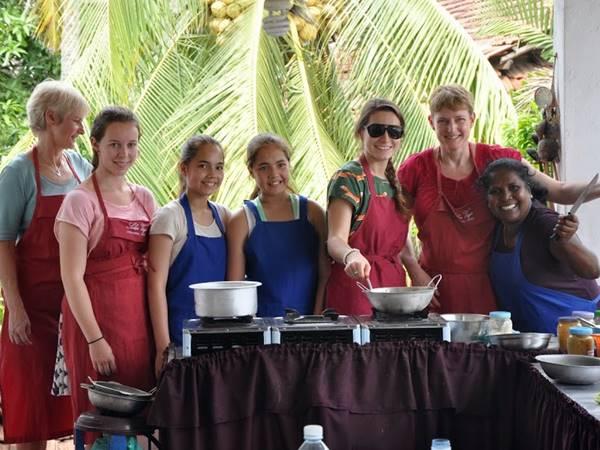 Matlagningslektion i Kandy