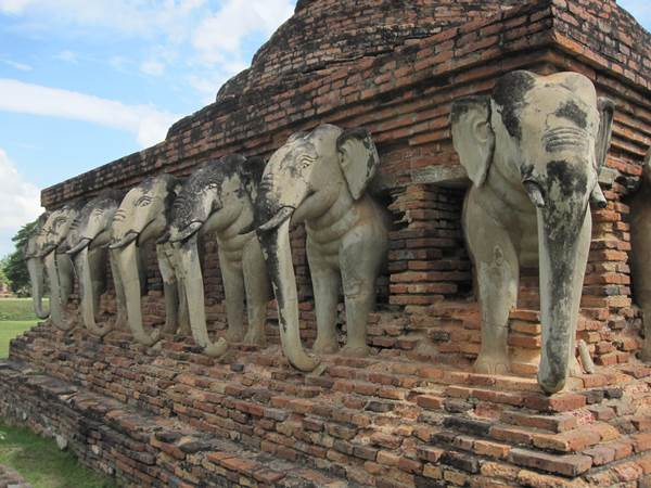 Elefanttemplet i Sukhothai