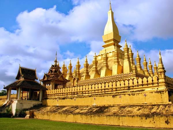 Pha That Luang i Vientiane