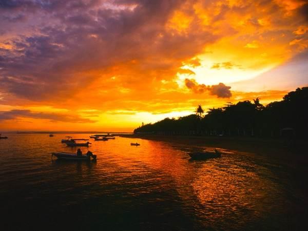 Solnedgång i Sanur