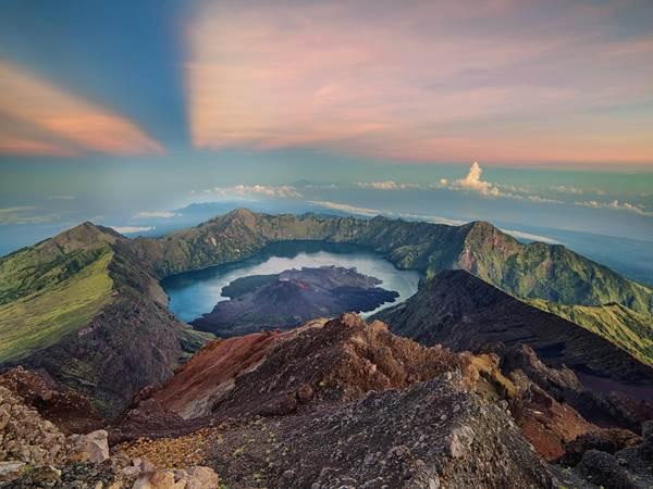 Soluppgång vid Mount Rinjani (frivillig extraaktivitet)
