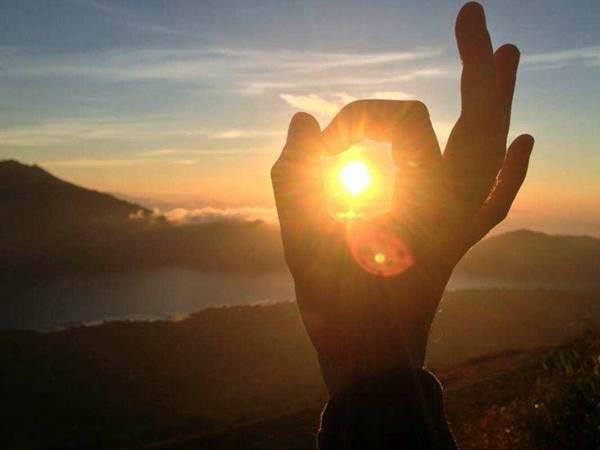 Soluppgång på Mount Batur
