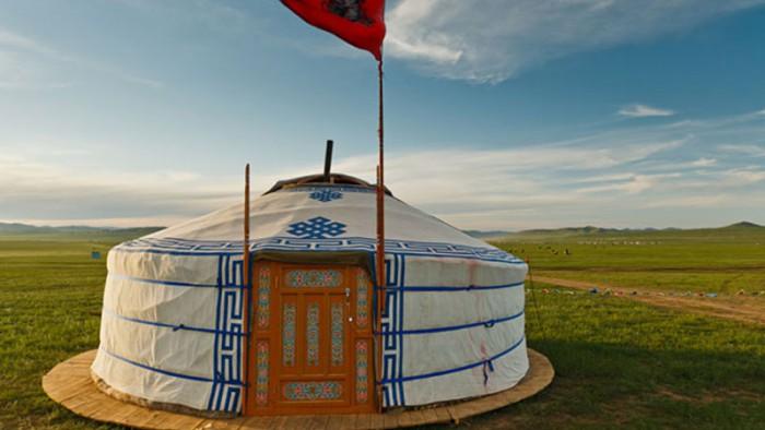 Resa och bo i en yurt i Mongliet
