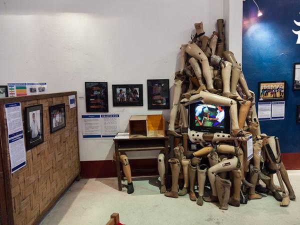Del av utställningen på COPE