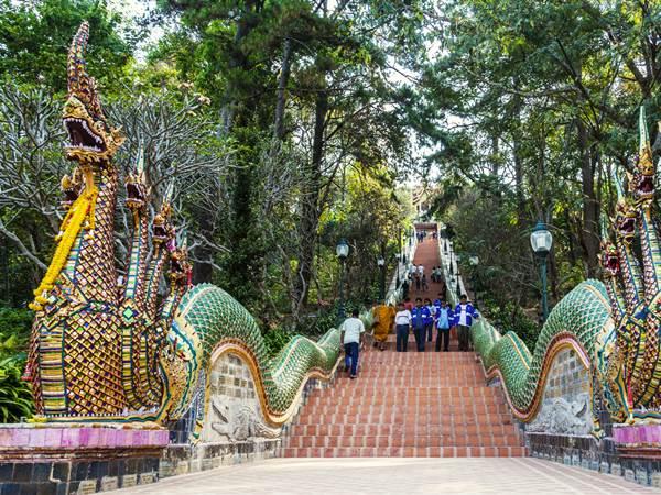 309 trappsteg till Wat Phra That Doi Suthep