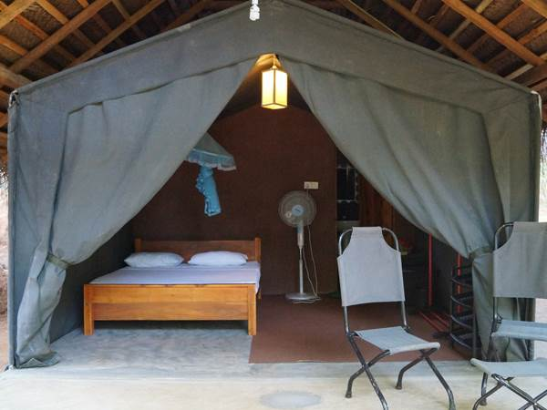 Athgira River Camp - Exempel på tält