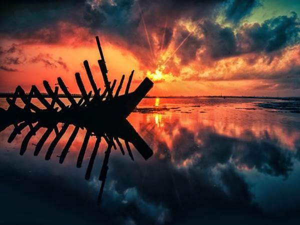 Solnedgång i Tuban