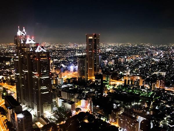 Utsikt från Tocho, Tokyo