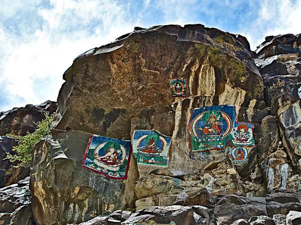 Vid klostret Tashi Lhunpo i Shigatse