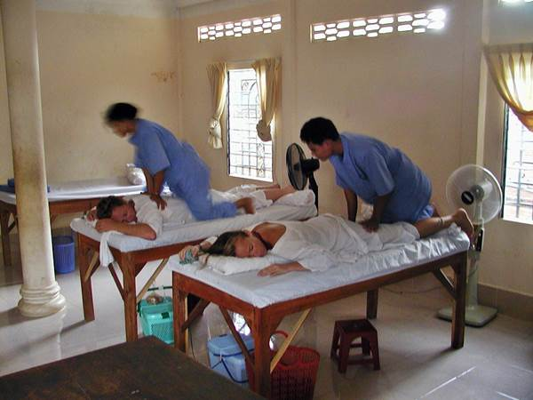 Massage på The Seeing Hands, Phnom Penh